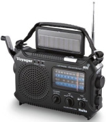 Kaito KA500 5-way Powered Emergency AM/FM/SW NOAA Weather Alert Radio with Solar,Wind Up,Dynamo Crank,Flashlight and Reading Lamp, Cellphone Charger,Colour Black