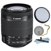 Canon EF-S 18-55mm f/3.5-5.6 IS STM Lens (White Box) + AUD Essential Accessory Bundle For Canon 6D 5D Mark II 5D Mark III SL1 T5i T5 T4i T3i T3 60D 70D T2i T1i Xsi XS DSLR Cameras