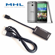 Volans MHL to HDMI TV-out for New HTC One M8, M9 Adapter HDTV