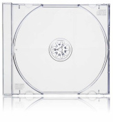Vision Media 100 X Single CD Jewel Case Clear Tray - 10.4mm Spine