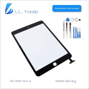 LL Trader® For iPad mini 3 Black Touch Screen Digitizer Panel Glass Lens Repair Replacement with IC Flex + Free Tools and Adhesive