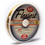 Flexiest Nylon Coated Beading Wire 49 Strand .46cm Gold Colour Sold 9.1m Spool