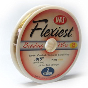 Flexiest Nylon Coated Beading Wire 7 Strand .46cm Gold Colour Sold 9.1m Spool