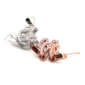 Beautiful Bead 2 Pairs of Women's 925 Silver Earrings Twisted Ear Cuffs Pendants Silver and Gold Colour