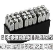 ImpressArt 6mm Varsity Uppercase Alphabet Metal Stamps Set