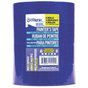LINZER Blue Dolphin Painter's Tape, 2.5cm - 1.3cm , Blue, 3.6cm X 60 Yd., 4 Rolls Per Pack