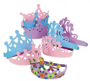 Foam Tiara Assortment 24 pc