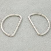 "Bluemoona 50 Pcs - Non Welded Dee Rings Metal 1"" 25mm 4 Webbing D Buckle Bag"