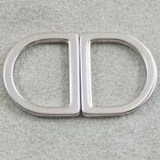 "Bluemoona 20 Pcs - Alloy Flat D Dee Rings D-Rings 1"" 25mm Webbing D Buckle Bag"