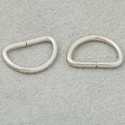 "Bluemoona 100 Pcs - Non Welded Dee Rings Metal 1/2"" 12mm 4 Webbing D Buckle Bag"
