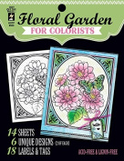 Hot Off the Press For Colorist Book - Floral Garden - 14 Black & White Sheets of Heaav Card to Colour with Pens Pencils, Markers Gelatos
