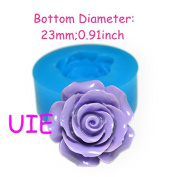 137LBH Flower ROSE Mould Flexible Silicone Push Mould 23mm - Air Dry Polymer Clay Sugarcraft Fake Food Moulds, Resin Mould