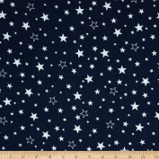 Robert Kaufman Cosy Cotton Flannel Stars Navy Fabric
