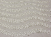 Sequin Lace Fabric with Zig Zag Design on Polyester Mesh