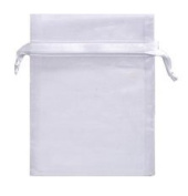 20 Organza Pouch Bag Jewellery Wedding Reception Party Sweet 16 Favours Xmas Gifts White