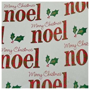 The Gift Wrap Company Red & Green Noel Metalized Premium Gift Wrap Paper, 2 Rolls