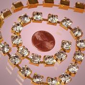 7MM X 5YD GOLD RHINESTONE CHAIN