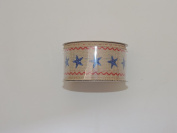 Celebrate It 100% Polyester 3.8cm . x 2.7m Decorative Stars Ribbon - Great For 4th of July!