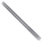 Tinksky 11 Sets of 20cm Long Stainless Steel Straight Double Pointed Sweater Crochet Knitting Needles - 2.0mm to 6.5mm