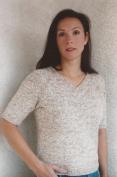Knitting Pure & Simple Knitting Pattern No. 993 - NeckDown V-Neck T-Shirt for Women