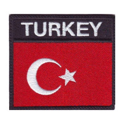 Turkey Badge Flag Embroidered Sew On Patch
