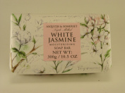 Asquith & Somerset White Jasmine Moisturising Triple Milled Soap 310ml, Imported From England