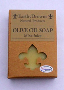 EarthyBrowns 100% Natural Mint Julep Olive Oil Soap - 180ml Bar