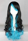 Weeck Anime Multicolor Long Lolita Wave Curly Women Party Cosplay Wig