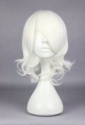 Weeck Anime Curly Tokyo Ghoul White Wave Cosplay Party Wig