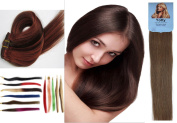 Yotty Women Premium Remy Human Hair Extensions Clip in Straight Grade 7a 38cm