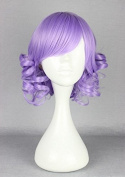 Weeck Anime Short Curly Lolita Wig Women Wave Cosplay Party Wig