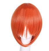 Weeck Anime Short Gintama Orange Cosplay Costume Party Wig