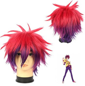 Weeck Anime Short No Game No Life Red Purple Cosplay Costume Party Wig