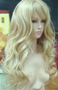Weeck Anime New Lady's Hair Sexy Long Curly Light Blonde Cosplay Wig
