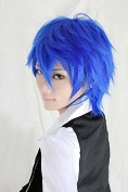 Weeck Short Anime Vocaloid Kaito Cosplay Blue Hair Cosplay Wig