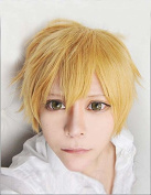 Weeck Anime Short Yellow Wig Free Cosplay Wigs Boy Party