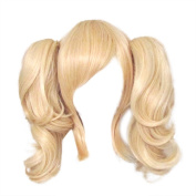 God's Hand Blonde Cosplay Wigs,Pigtails 35CM/13.78 Inch, Thick and Soft for Costume Party ,Harley Quinn Cosplay
