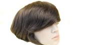 Human Hair Toupee 18cm x 23cm Thin Skin Full Pu Toupee Men Hair Piece System