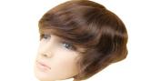 Human Hair Toupee 18cm x 23cm Swiss Lace Base Men Hair Piece