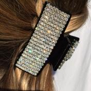 Black Rhinestone Diamante 90 Degrees Hair Claw Clip