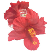 OWM Beauty Accessories Hair Red Hawaiian Hibiscus Double Sided Jaw Hair Clip