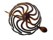 Parcelona French Swirls Tortoise Shell Cellulose Bun Cover