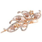 Binmer(TM)Women Hairpin Lovely Vintage Jewellery Crystal Pearl Duckbill Clip Beauty Tools
