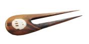 Circular Shell Inlay Sono Wood Hair Stick