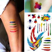 YARUIE 11 Paterns 2015 New Fashion Colourful Waterproof Body Painting Tattoos 11#