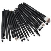 20pcs Pro Makeup Brushes Set Powder Foundation Eyeshadow Eyeliner Lip Brushes