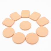 Polytree 10pcs Soft Makeup Foundation Blender Face Sponge Flawless Smooth Powder Puff
