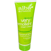 Alba Very Emollient Cream Shave, Coconut Lime, 240ml