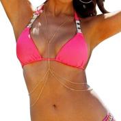 Outop Women Harness Body Chain Bikini Chain Crossover Belly Waist Chain