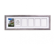CreativePF- 6 Opening Glass Face Driftwood Picture Frame to hold 13cm by 18cm Photographs including 25cm x 90cm White Mat Collage